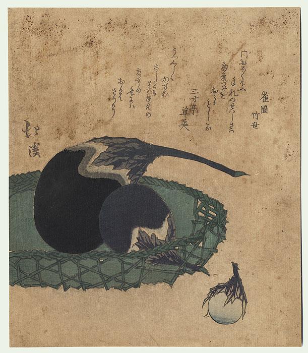 Original Hokkei (1780 - 1850) Japanese Woodblock Print