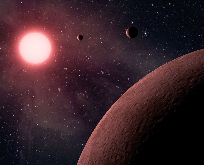 Tiniest trio of extoplanets outside our Galaxy