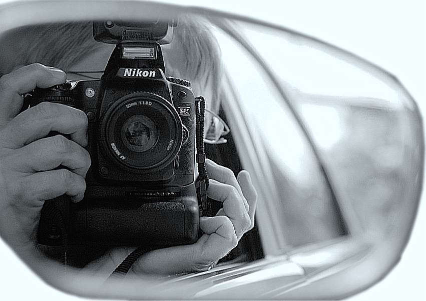 Self-Portrait in the Rearview Mirror
