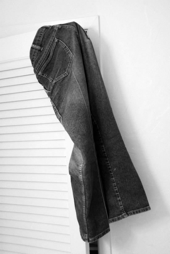 Jeans On A Door