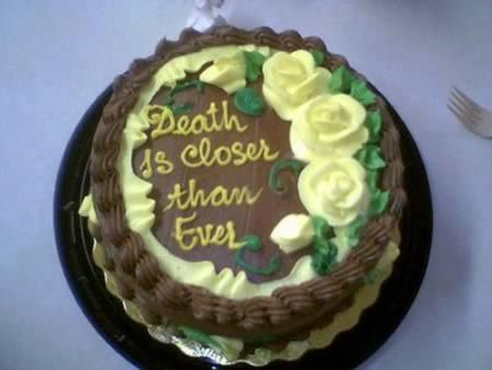 Death Birthday cake